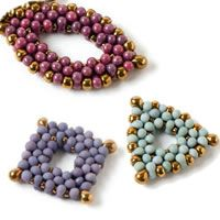 Beaded Jewelry Components--could be used in bracelets, earrings, or necklaces