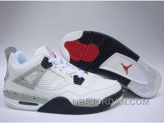 Buy Original Nike Air Jordan 4 IV Retro Mens Shoes White Grey Black Online  from Reliable Original Nike Air Jordan 4 IV Retro Mens Shoes White Grey  Black ... 3136b9244e445