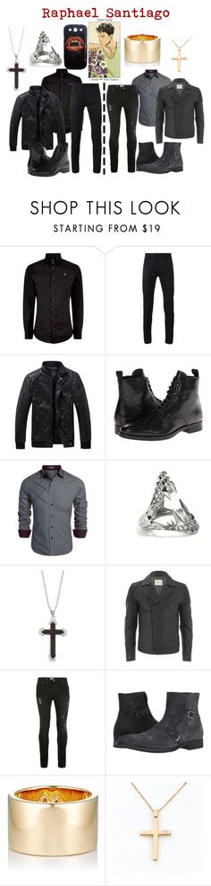"""""""Raphael Santiago"""" by aquatic-angel ❤ liked on Polyvore featuring Vivienne Westwood, Haider Ackermann, To Boot New York, Kasun, 1913, SELECTED, Topman, Jennifer Fisher, Anastazio and men's fashion"""