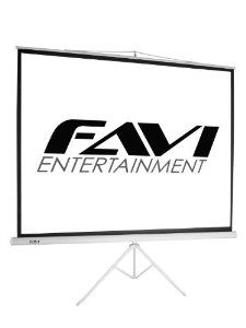 FAVI TRI-HD-106 16:9/106-Inch Portable Tripod Projector Screen by FAVI Entertainment. $114.00. From the Manufacturer                  FAVI's 106-inch tripod portable projection screen travels with you to your big presentation and sets up in an instant. The tripod series is the ideal solution for home theater, business executives, sales teams, educators or any individual who frequently presents PowerPoint/laptop presentations.              TRI-HD-106 Portable Tripod Projection ...
