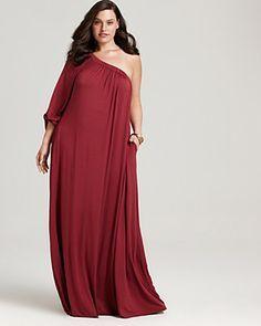 1 shoulder maxi dress 1x
