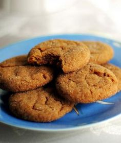 Molasses Cookies - made with flax, no butter, oats, and whole wheat flour. Sounds like my kind of cookie.