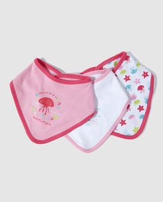 Pack baberos de bebé niña Freestyle surtidos