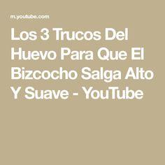 Los 3 Trucos Del Huevo Para Que El Bizcocho Salga Alto Y Suave - YouTube Youtube, Pastries, Food Cakes, Egg, Crack Cake, Hacks, Youtubers, Youtube Movies