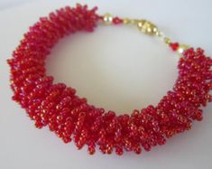 PDF beaded coral necklace tutorial seed bead by BeadsMadness