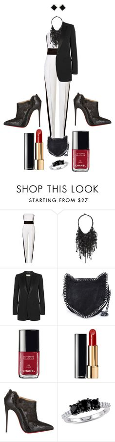 """""""Job Day 730"""" by minigiulia ❤ liked on Polyvore featuring Emilio Pucci, Vera Wang, Yves Saint Laurent, STELLA McCARTNEY, Chanel, Christian Louboutin, Ice and Yvel"""