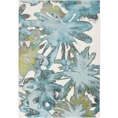 Surya ABERDINE Area Rug - Machine made, the Surya ABERDINE Area Rug features a stylish floral pattern in shades of teal and green with gray accents.About Surya Rug. Floral Area Rugs, Floral Pattern, Decor Buy, Rug Shapes, Area Throw Rugs, Rugs, Shades Of Teal, Indoor Rugs, Machine Made Rugs