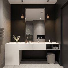 Famous 13 Beegcom Best Interior Design School Nyc, Home Decor Iron Wall Art Small Apartment Interior, Cozy Apartment, Home Interior, Black Vanity Bathroom, Bathroom Vanity Designs, Black Bathrooms, Small Bathrooms, Bad Inspiration, Bathroom Inspiration