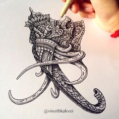 Ornate Mammoth King. If you haven't seen or wish to see the video drawing, check out the previous post. Thanks guys!
