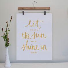 (10) Fab.com | Let The Sun Shine Poster 18x24