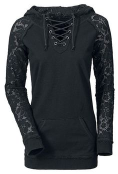 Splicing Lace-Up Long Sleeve Hoodie