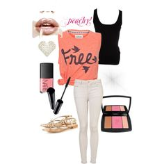 """Peachy!"" by marla-meridith on Polyvore"