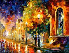 Before sunrise — PALETTE KNIFE Oil Painting On Canvas by AfremovArtStudio, $239.00