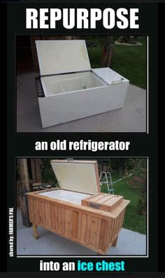 Re-purpose old refrigerator into a cooler!