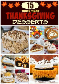 Facebook0Google+38Twitter0Pinterest12Stumble1Yummly51What is your favorite Thanksgiving dessert? Do you go for the classic pie? Or is there something else that you just have to have on your dessert table? Here are 15 Thanksgiving Dessert Ideas from over the years that are my tried and true favorites. Thanksgiving is one of my favorite holidays. It is such …
