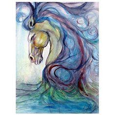 Trademark Fine Art Caballo Azul Canvas Art, Size: 35 x 47, Multicolor