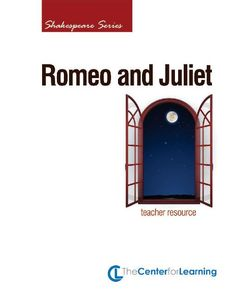 TeacherLingo.com $14.95 - 14 Lesson Plans / 29 Handouts / 104 Pages    Set in fourteenth-century Verona, Romeo and Juliet is a romantic tragedy. It is one of Shakespeare's most popular and well-known plays.