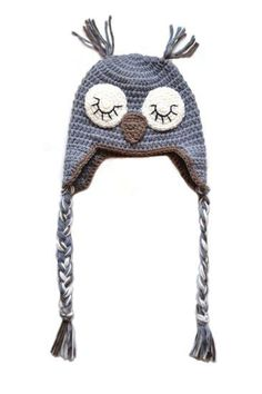 Hekla grå ugle lue til baby og barn Winter Hats, Beanie, Barn, Fashion, Moda, Converted Barn, La Mode, Barns, Fasion