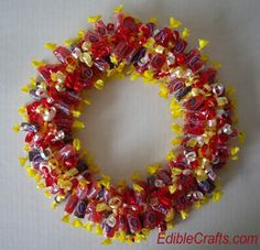 Mother's day candy wreath gift idea