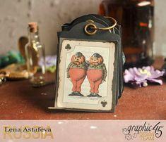 Book Box and mini album-Hallowe'en in Wonderland-Tutorial by Lena…