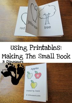 Using Printables: How to Make the Small Book - 3 Dinosaurs.com