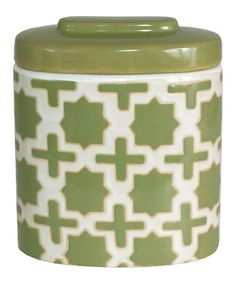 Another great find on #zulily! Green Covered Short Jar #zulilyfinds
