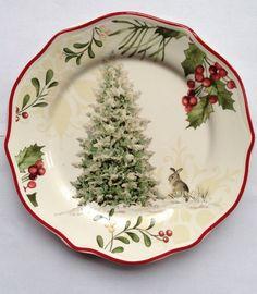 Better Homes & Gardens Christmas Heritage Christmas Tree Salad Plate * Multiples #BetterHomesGardens