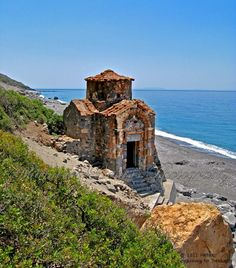 The old Byzantine church of Agios Pavlos on the south coast of Chania prefecture in Crete