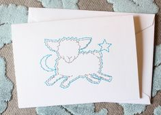 Nighty night new baby card by Stitched Cards.