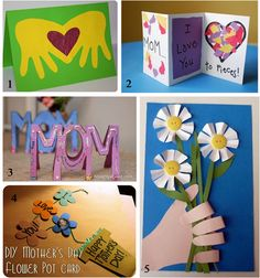 I like the folding card (#2) DIY Mother's Day Cards