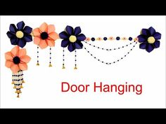 Beautiful Handmade Door Hanging Using Paper on Budget|| DIY Wall Hanging|| Toran making Ideas - YouTube