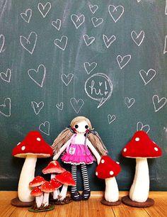 Tiny Olivia Doll by hitree on Etsy,