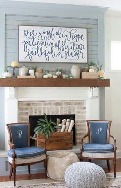 idea for fireplace reno,  reclaimed wood boards,  could use my Walton boards.
