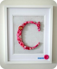 Personalised Framed Button Letters - Upcycled/New Buttons