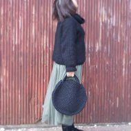 裂き編みバッグ(ラウンド型)Lサイズの画像
