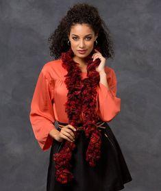 Simone's Ruffle Scarf Crochet Pattern | Red Heart