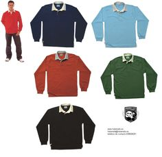 Polo liso rugby hombre