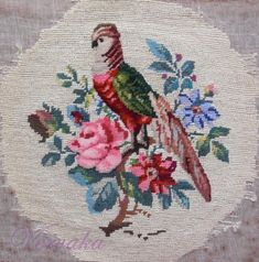 Gallery.ru / Фото #5 - СОЗЕРЦАЕМ КРАСОТУ-157 - GAVRUCHA Wool Yarn, Needlepoint, Rooster, Berlin, Cross Stitch, Painting, Women's Fashion, Cross Stitch Embroidery, Embroidery Patterns