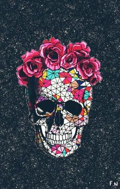 Find the best Sugar Skull Wallpaper for iPhone on GetWallpapers. We have background pictures for you! Tumblr Wallpaper, Wallpapers Tumblr, Cool Wallpaper, Cute Wallpapers, Wallpaper Backgrounds, Wallpaper Ipod, Floral Wallpapers, Skull Wallpaper Iphone, Colorful Wallpaper