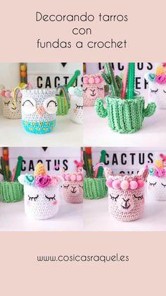 Crochet Home, Crochet Gifts, Crochet For Kids, Easy Crochet Animals, Crochet Coffee Cozy, Coffee Cup Cozy, Knitted Dolls Free, Crochet Basket Pattern, Crochet Decoration