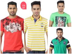 """Get 10% off on a range of stylIsh Men's T-shirts from leading brands  only at hytrend.com """