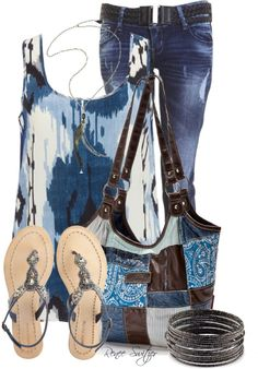 """""""Blue/Brown"""" by renee-switzer on Polyvore"""