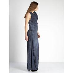 Long dress in silk mix / 77-09