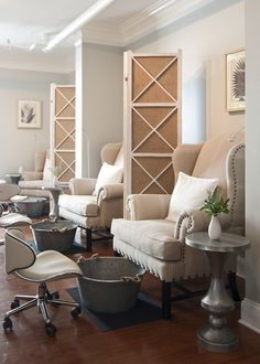 Pedicures are a very luxurious but organic experience at the Fearrington Spa, a Relais & Chateaux property in NC http://amzn.to/2t2peSa