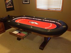 Broncos Poker Table. My Home Table.