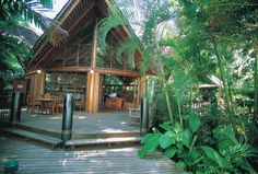 Ferntree hostel @ Cape Tribulation - we met fellow Americans from Seattle (they worked in a law firm, too) The Places Youll Go, Places Ive Been, Bungalow Bathroom, Gazebo, Pergola, Daintree Rainforest, Holiday Accommodation, Hostel, Future House