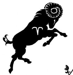 Aries tattoo. Getting this eventually, but without the symbol in the middle. Just the black ram.
