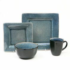 Baum Squared Blue 16-pc. Dinnerware Set at Kohl's