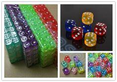10 개 투명 포커 칩 주사위 14 미리메터 여섯 양면 스팟 재미 보드 게임 주사위 D & RPG 게임 파티 주사위 도박 게임 오지