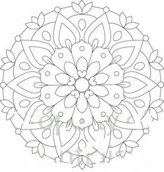Flower Printable Coloring Pages Lovely 2 Flower Mandala Printable Coloring Page Flower Coloring Sheets, Printable Flower Coloring Pages, Pattern Coloring Pages, Coloring Book Art, Mandala Coloring Pages, Coloring Pages To Print, Colouring Pages, Adult Coloring Pages, Mandala Art